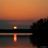 Solnedgång på Ängsö
