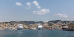 MSC färjorna i Genovas hamn